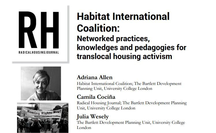 Radical Housing Journal Conversation with Adriana Allen