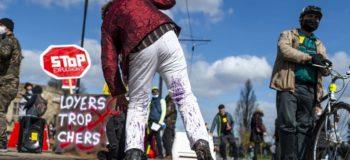 Manifestantes housing Action Day Europe Nantes