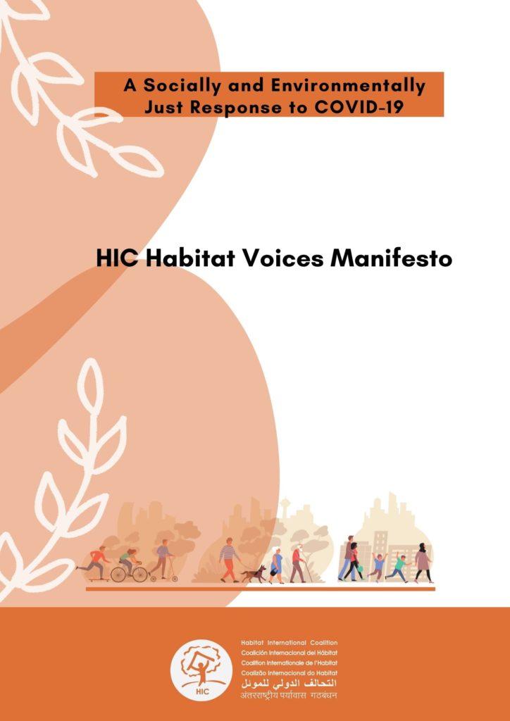 HIC Habitat Voices Manifesto